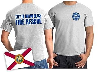 5d0f4416 feuer1 T-Shirt Miami Beach Fire Rescue (Blue Ash): Amazon.co.uk ...
