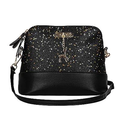 8c5a001616bd Amazon.com: COOKI Womens Purses and Handbags Ladies Sequins Leather Small  Deer Pendant rossbody Handbags Designer Satchel Tote Bag Shoulder Bags on  Sale ...