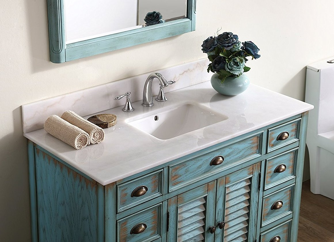 bathroom sink. Amazon.com: 46\u201d Cottage Look Abbeville Bathroom Sink Vanity Model CF28885BU: Kitchen \u0026 Dining V