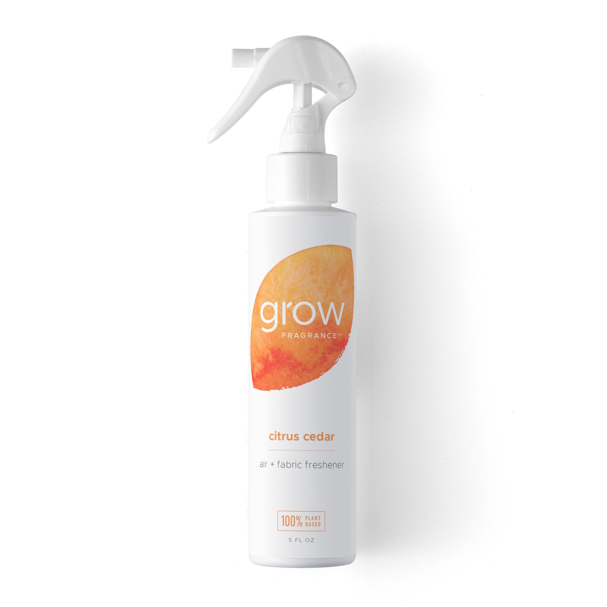 Grow Fragrance 100% Plant-Based Air + Fabric Freshener, 5 oz (Citrus Cedar) Safe For Home - Over 500 Sprays!