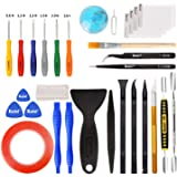 Kaisi 30 in 1 Professional Electronics Screen Opening Pry Tool Repair Kit with Steel and Carbon Fiber Nylon Spudgers, Double
