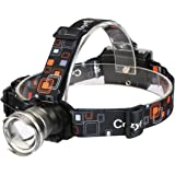 LED Headlamp,CrazyFire Led Headlamp Flashlight Zoomable 3 Modes Runners Headlamps for Hiking,Camping,Reading,Fishing,Hunting,Outdoor Sports(Gray)