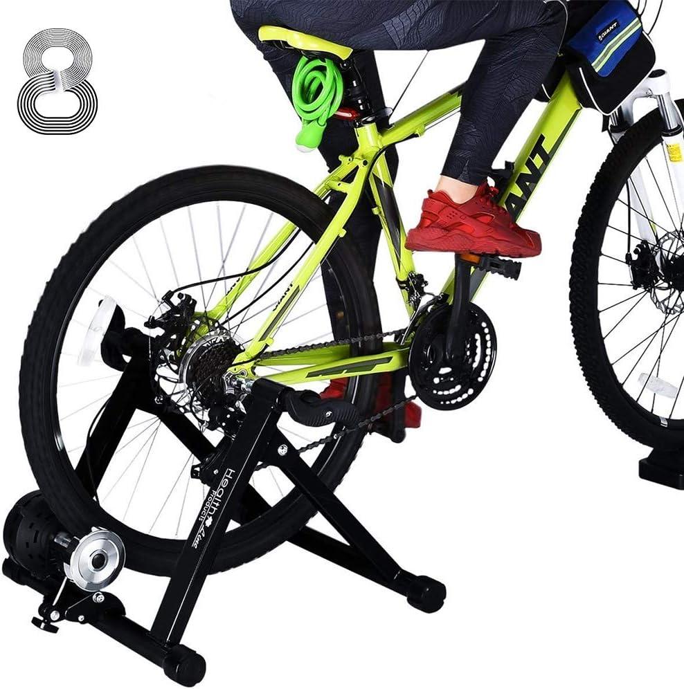 Bike Trainer ruota anteriore Riser Block stand stabilizza il supporto bici Accessori per Indoor Formazione Bicicletta e cyclette Nero Attrezzatura bicicletta
