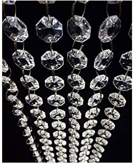 Amazon clear acrylic chandelier drops pkg of 112 984ft magnificent crystal acrylic gems bead strands manzanita crystals tree garlands christmas mozeypictures Images