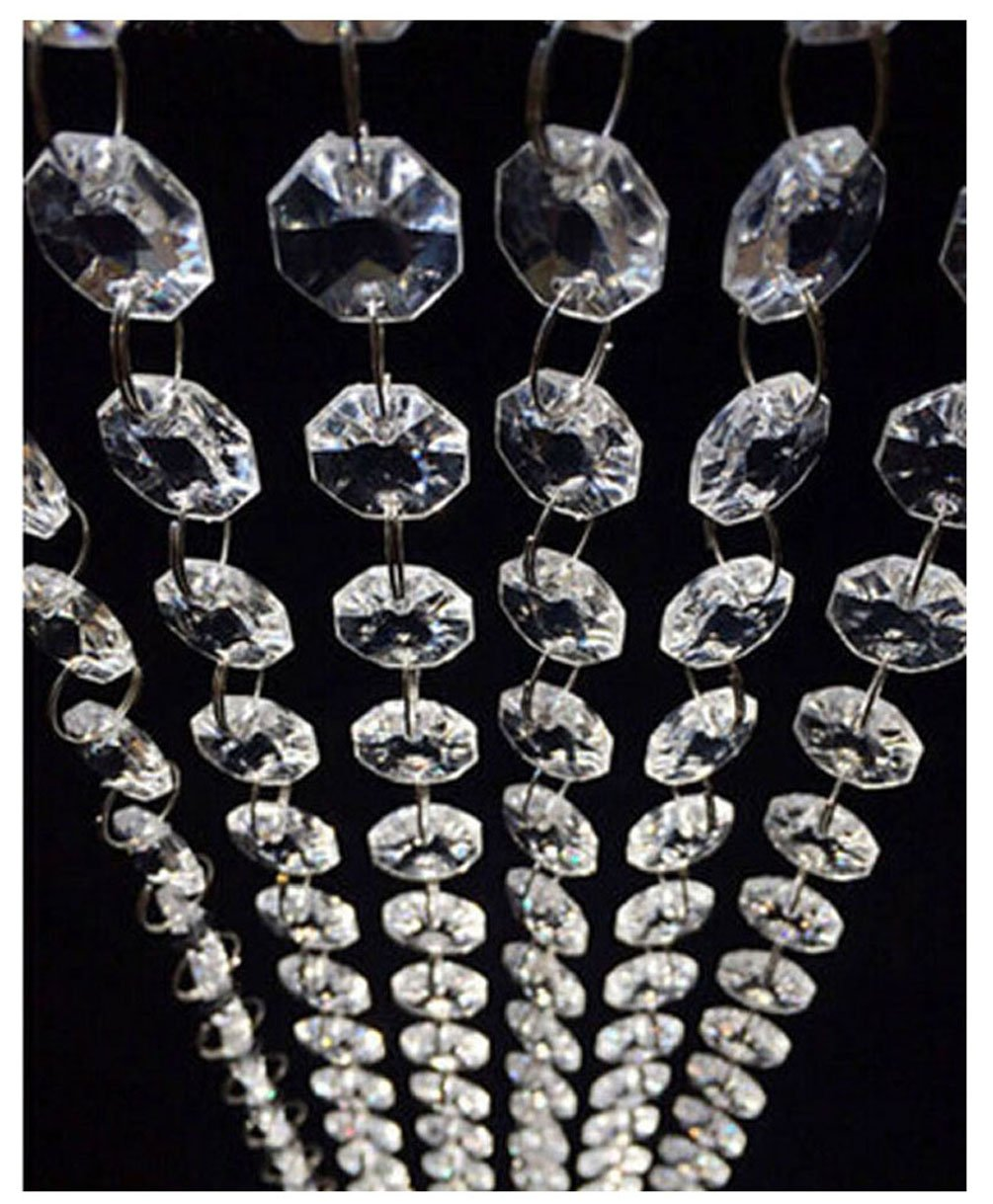 98.4FT Magnificent Crystal Acrylic Gems Bead Strands, Manzanita Crystals, Tree Garlands, Christmas Wedding Party Celebration Decoration (99FT(30M)) by Jiangsheng