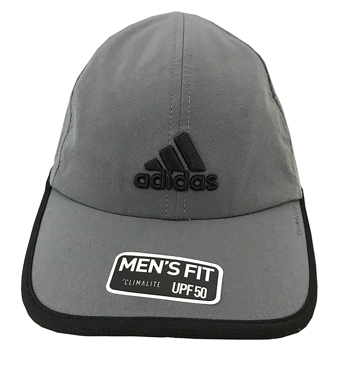 35f8242ef4d Amazon.com  adidas Men s Fit Climalite UPF 50 Cap Hat (Black Grey)  Sports    Outdoors