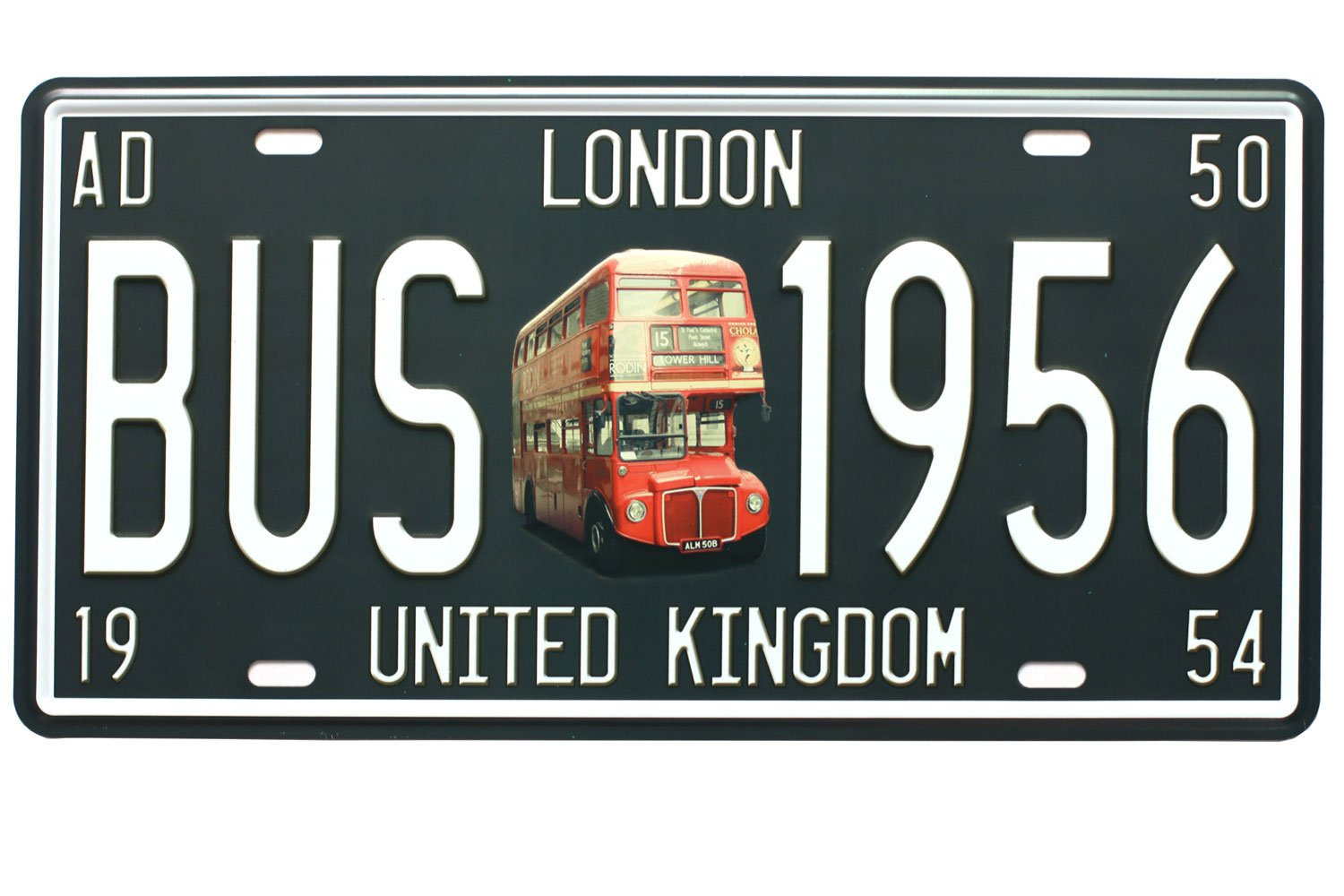 LONDON BUS 1956 UNITED KINGDOM Vintage Auto License Plate Embossed Tag Size 6 X 12 Embossed Tag Size 6 X 12 sweet house