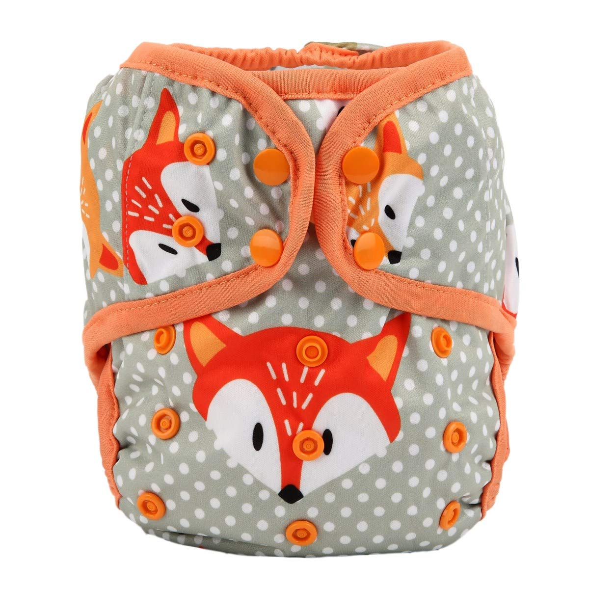 One Size Cloth Diaper Cover Snap with Double Gusset (Pineapple) Hibaby