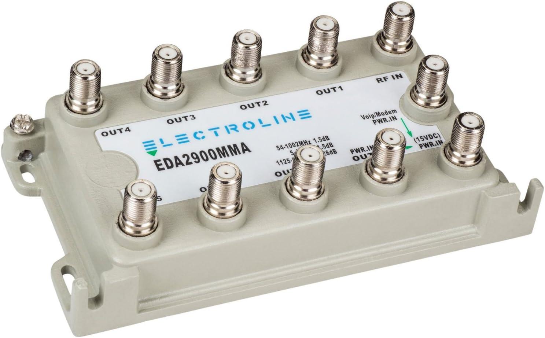 Electroline EDA2900MMA 8-port RF//CATV Distribution Amplifier