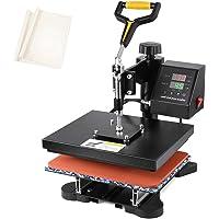 "Seeutek Heat Press 12"" X 10"" Professional Heat Transfer Digital Sublimation Machine 360 Degree Swing Away for T Shirts…"