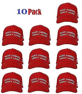 93659404c62 Make America Great Again Donald Trump USA Cap Adjustable Baseball Hat (10  Pack)