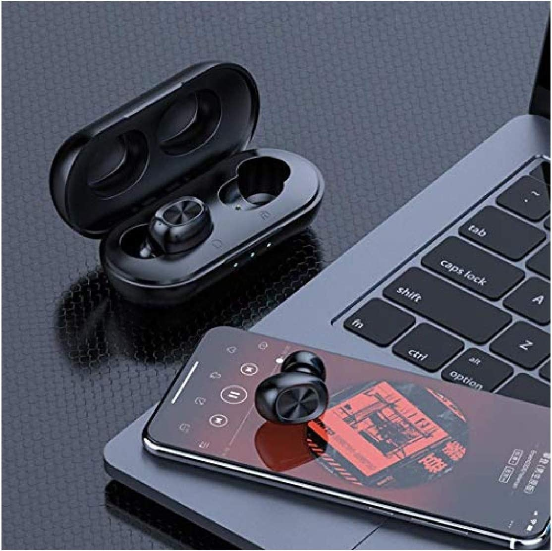 dozenla Wireless Earbuds in-Ear Stereo Earphone with Charging Case Earbud Headphones