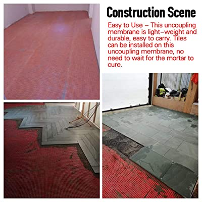 Buy Shikha Heated Floor Uncoupling Membrane 3 3 Ft X 16 5 Ft 54sqft Tile Floor Underlayment Roll 1 5 Thickness Waterproof Use Thin Set Mortar Tile Membrane Cuttable Tile Underlayment For Bathroom Kitchen Online In