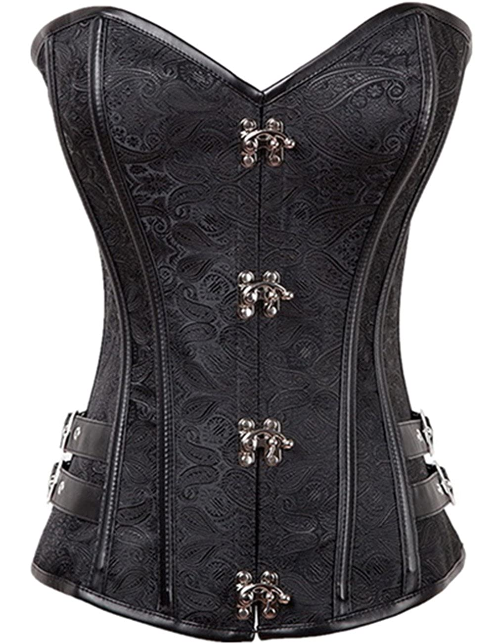 98ce3837e47 SELUXU Womens Waist Trainer Brocade Bustiers Lace up Cincher Underbust  Steampunk Corsets  Amazon.co.uk  Clothing