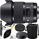 Sigma 20mm f/1.4 DG HSM Art Lens for Nikon F 7PC Accessory Kit. Includes Manufacturer Accessories + Lens Pen + Dust Blower + Cap Keeper + Lens Pouch + Microfiber Cleaning Cloth