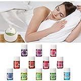 LuckyFine 3.3ml 12 Bottiglie Di Ad Olio Essenziali Colorate Aromaterapia S Oli Essenziali Aromaterapia Per Umidificatore Olio Essenziale Aromatico L'interno Casa