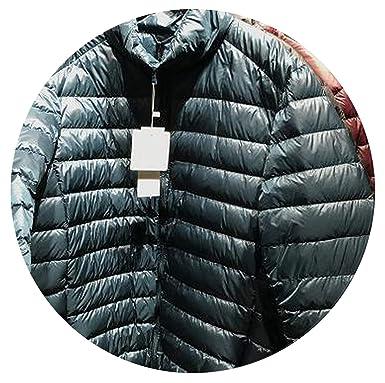 b3819053a Down Jacket Winter Coats Zipper Thin Ultra Light St Collar White ...
