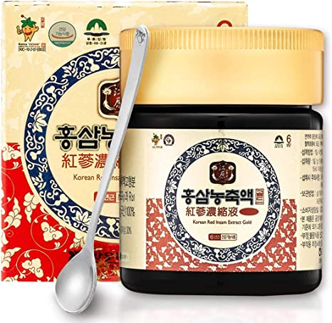 Amazon.com: [Gangwoninsam] Korean Red Ginseng Extract Gold 120g / 4.23 fl.  oz – Contain 100% 6 Year Korean Red Ginseng Extract, Healthy Korean  Food(120g): Health & Personal Care