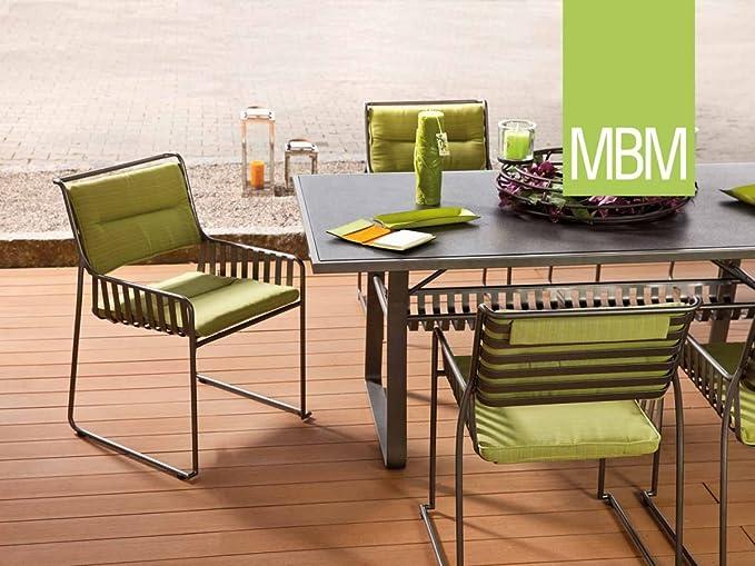 MBM Cadena de hierro forjado Asiento Grupo Marylin 6 personas/mesa de jardín/Terraza mesa/mesa para balcón: Amazon.es: Jardín