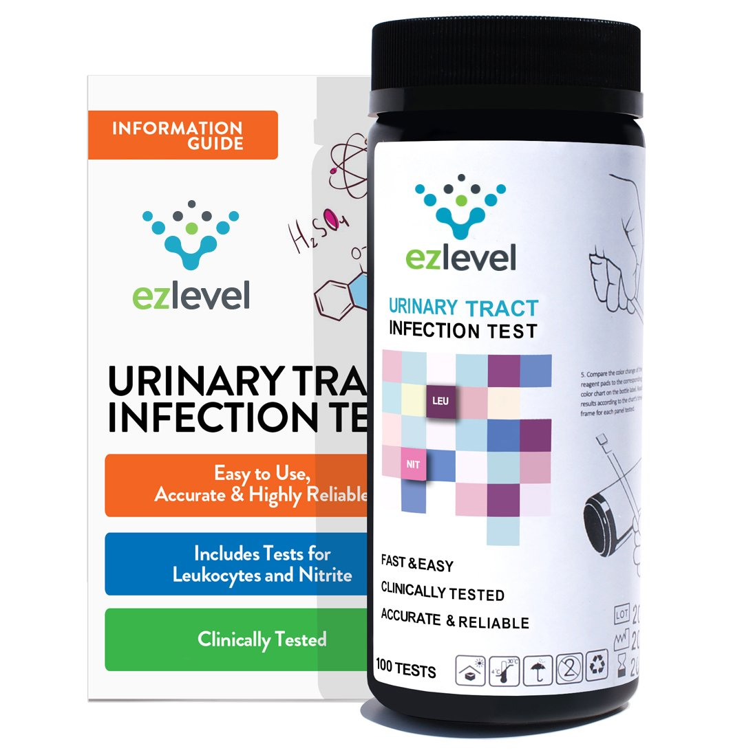 EZ Level Urinary Tract Infection UTI Test Strips Leukocytes Nitrite (100 Tests)