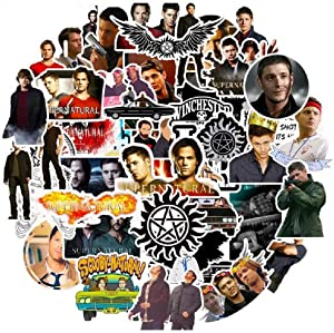 50Pcs/Pack Classic TV Show Supernatural Stickers for Motorcycle Notebook Computer Car DIY Children's Toys Guitar