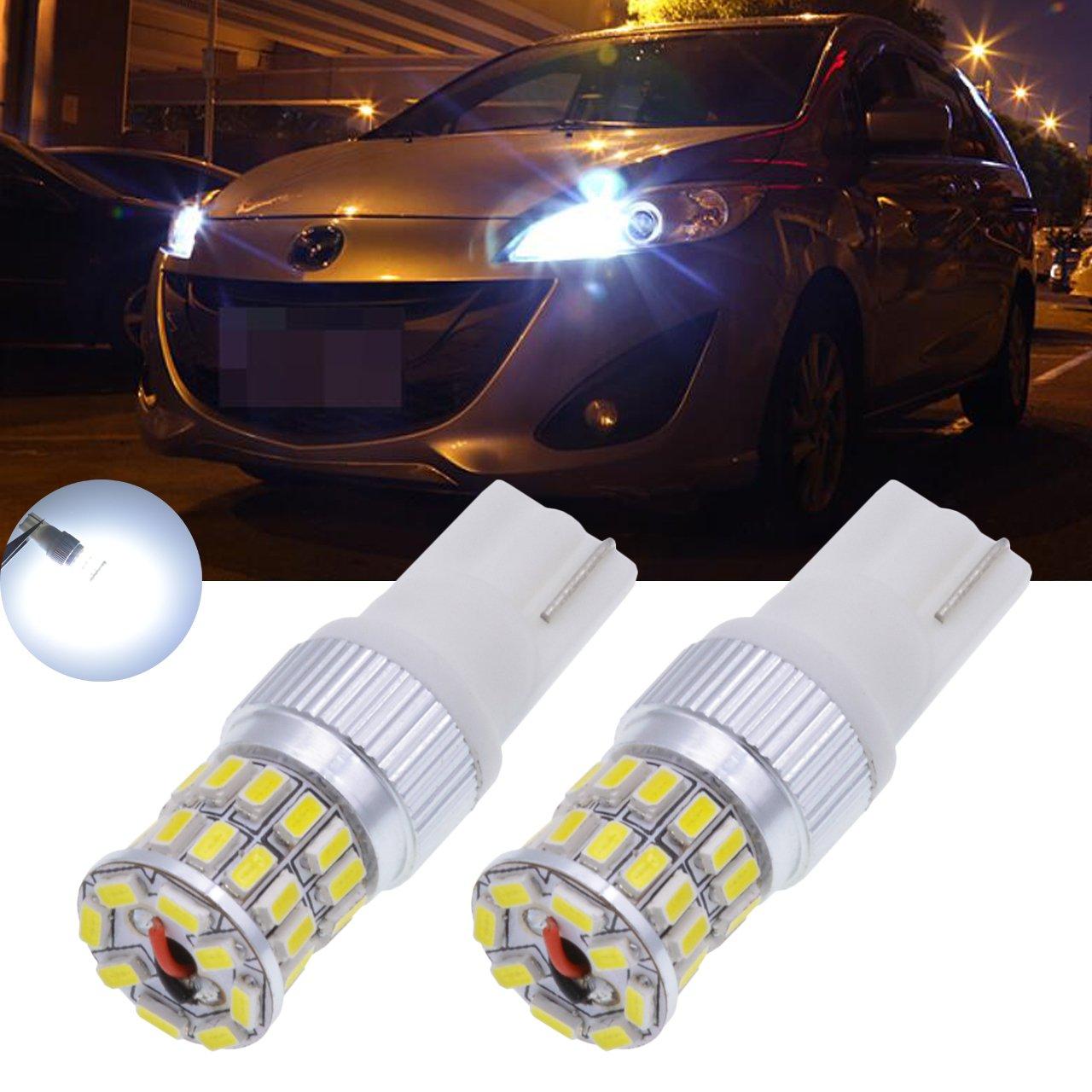 Tuincyn Ampoules LED Blanc 450 lumens 36smd T15 T10 921 912 168 175 194 utilisé es pour les lumiè res de voiture, clignotants, feux de stationnement, feux de recul, feux arriè res DC 12&n