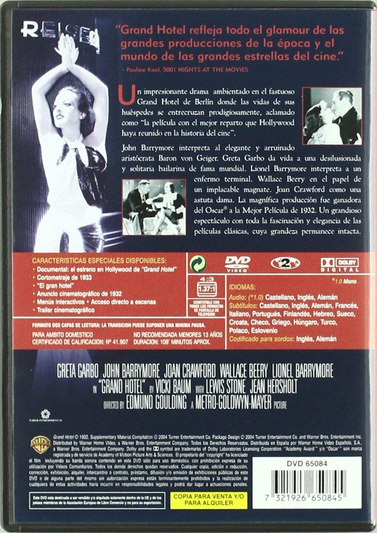 Amazon.com: Grand Hotel [1932] (Import Movie) (European Format - Zone 2): Movies & TV