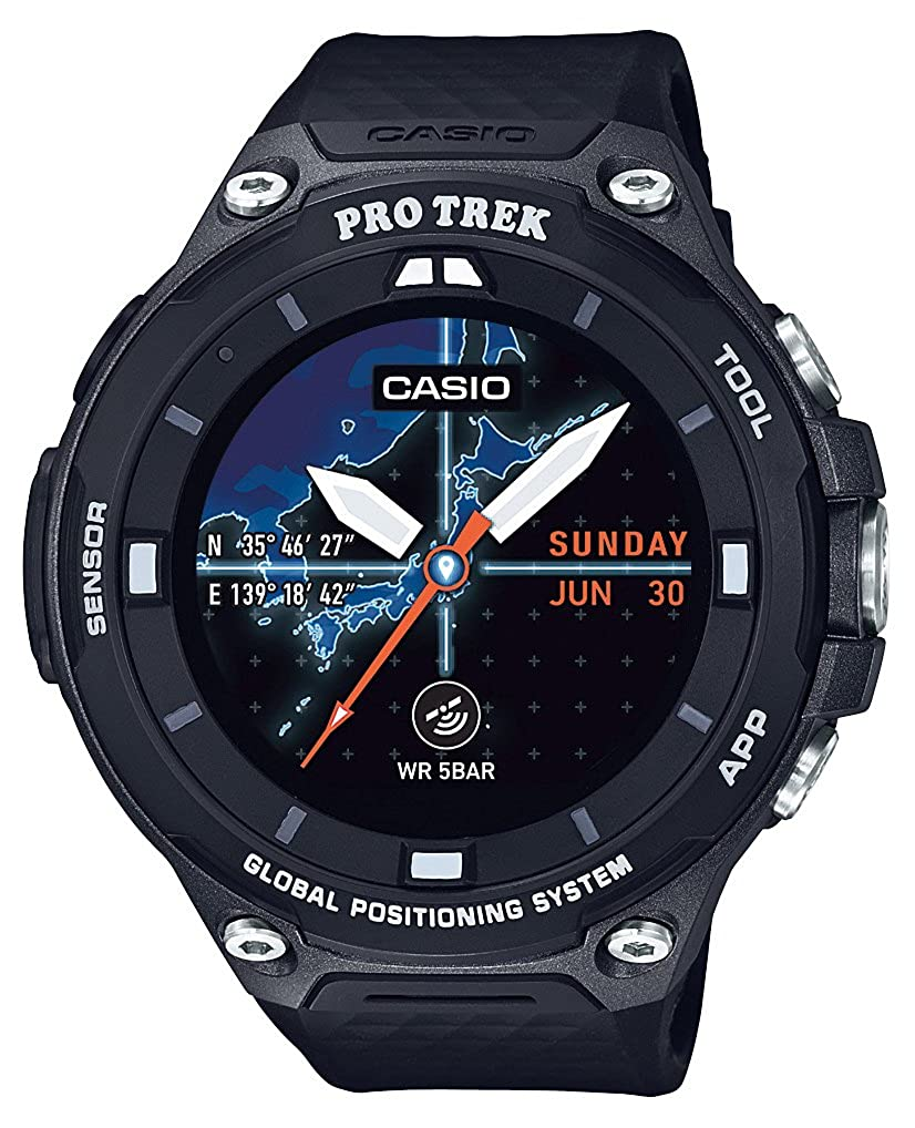 [カシオ]CASIO スマートアウトドアウォッチ プロトレックスマート GPS 搭載 WSD-F20-BK メンズ   B06XNP99LT