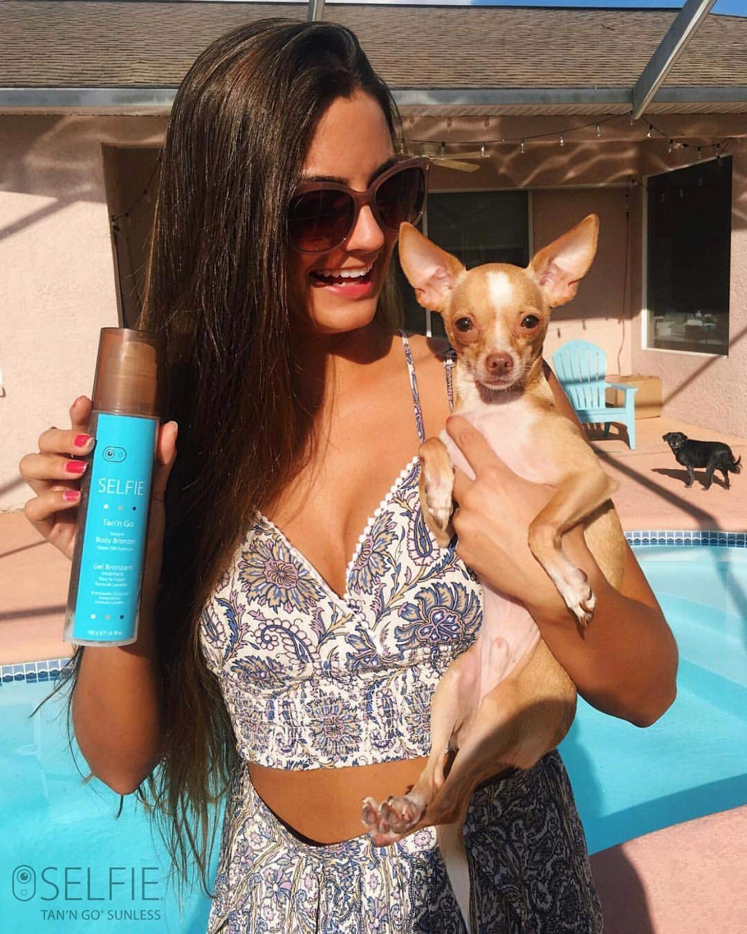 Selfie Tan'n Go Instant Body Bronzer with Wash Off Formula - Sunless self tanner (Medium Tan) rich,  Exotic natural looking fragrance-free tan for head to toe for  all skin types, 6.7 oz by Selfie (Image #7)