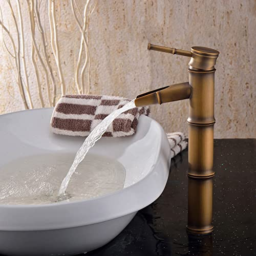 LightInTheBox Antique Brass Finish Bathroom Sink Faucet – Bamboo Shape Design
