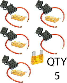 8 GAUGE INLINE MAXI FUSE HOLDER WITH 40