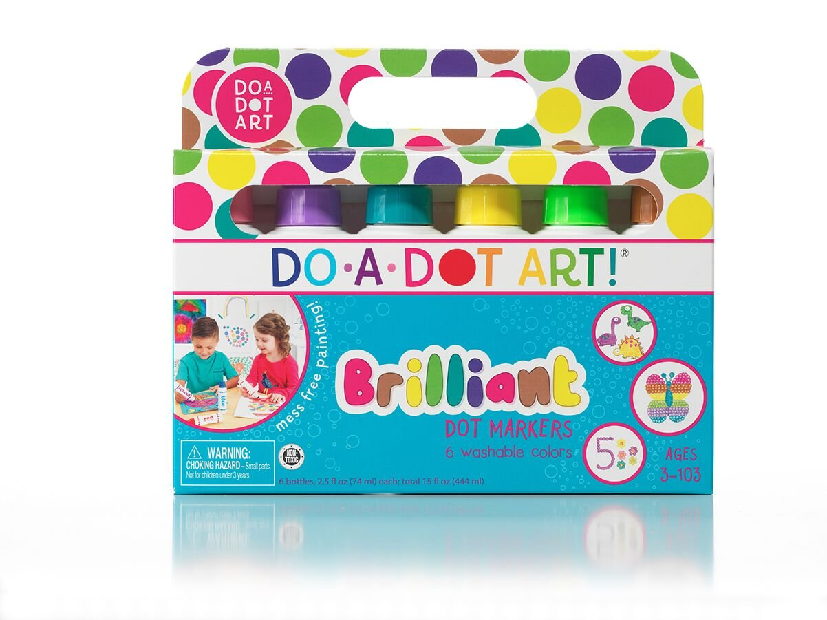 Do A Dot Art! Markers Brilliant Washable 6 pack, The Original Dot Marker by Do.A.Dot Art!