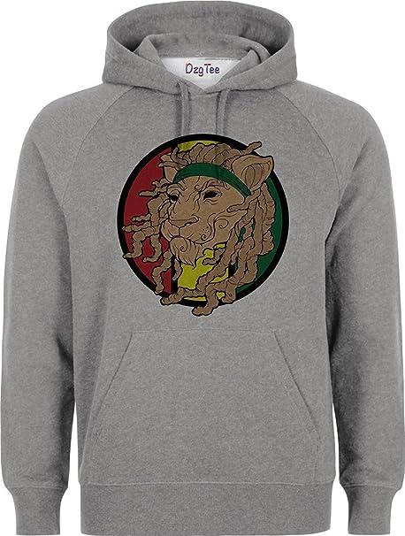 Reggae Lion Logo Rasta Colors Unisex Pullover Hoodie XX-Large: Amazon.es: Ropa y accesorios