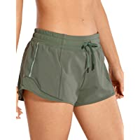 CRZ YOGA Women's Workout Running Sports Shorts with Pocket - 2.5 Inches