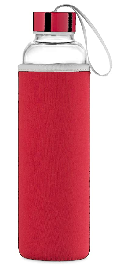 Swig Savvy Cristal de borosilicato Botella de agua martillo, con funda de nailon Resistente: Amazon.es: Hogar