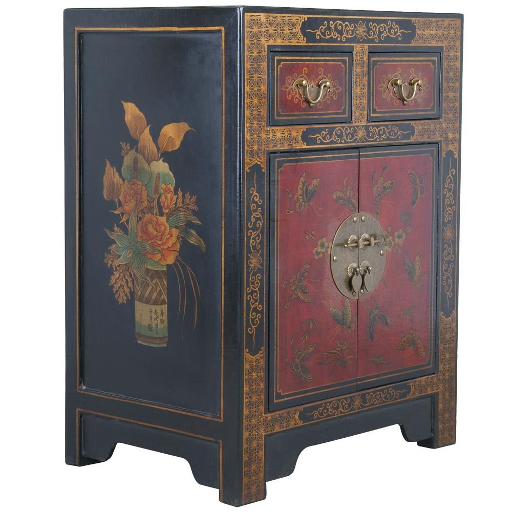 Amazon.com: EXP Handmade Oriental Furniture 27-Inch Antique Style Black End  Table with Nature Motifs: Kitchen & Dining - Amazon.com: EXP Handmade Oriental Furniture 27-Inch Antique Style