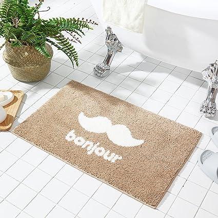 Wx.Pab Alfombrillas de baño Baño suave alfombrillas absorbentes alfombras esteras colchones colchones tapas de