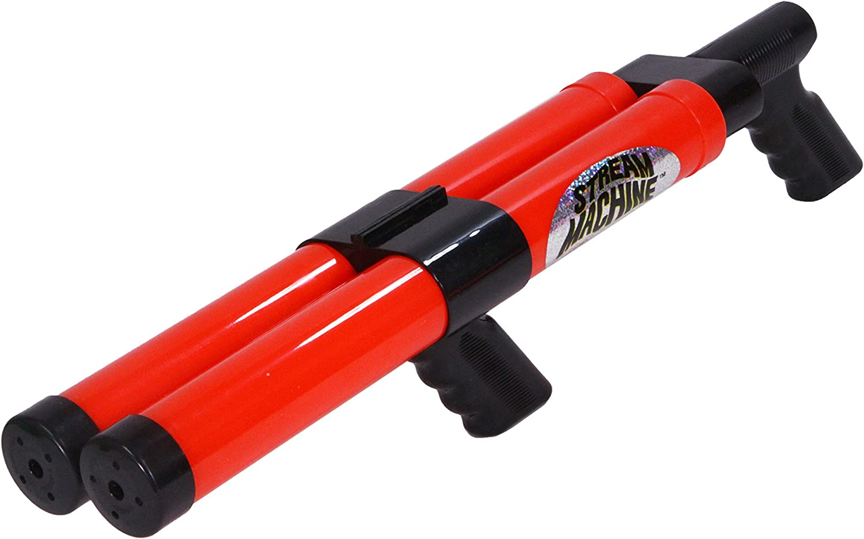 Stream Machine Water Gun DB-1500 Double Barrel Water Launcher, 24 Inch Water Soaker Gun Shoots 40+ ft, Pool Squirt Gun for Outdoor Summer Fun