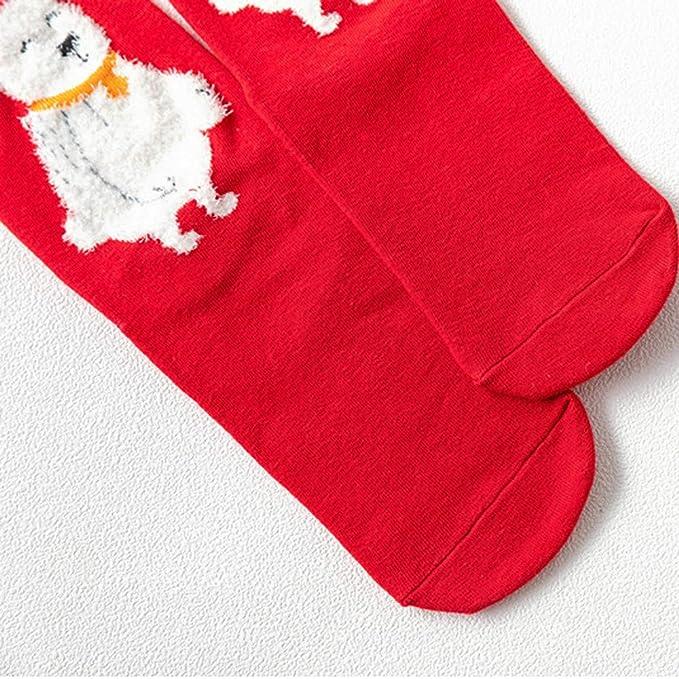 ZARLLE_Calcetines Calcetines De AlgodóN Calcetines TéRmicos Adulto Unisex AlgodóN De Mujeres De Navidad Imprimir Calcetines Antideslizantes MáS Gruesos Del ...