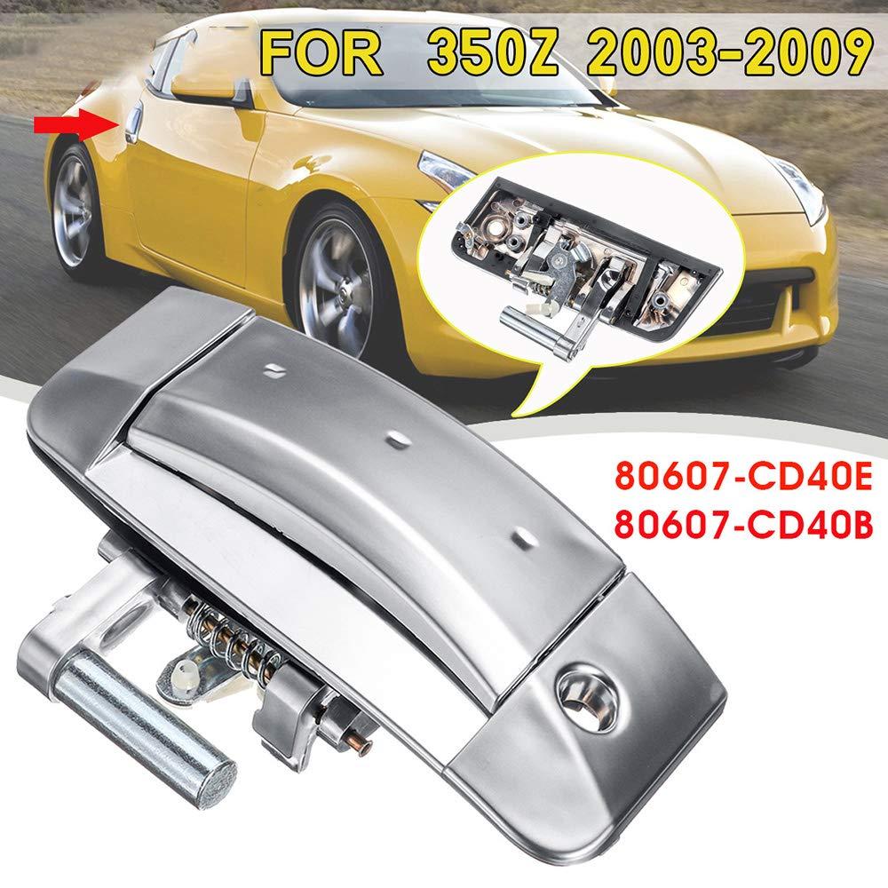 Auto Au/ßent/ürgriff Auto links Fahrer au/ßerhalb Silber T/ürgriff mit Schl/üsselloch f/ür 350Z 2003-2009