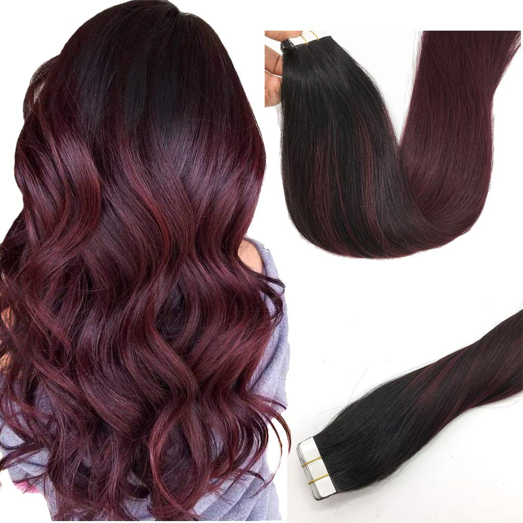 Amazon Misstar Balayage Ombre Tape In Hair Extensions Human