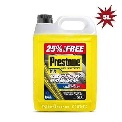 Líquido de Prestone, para limpieza de los cristales del vehículo ...
