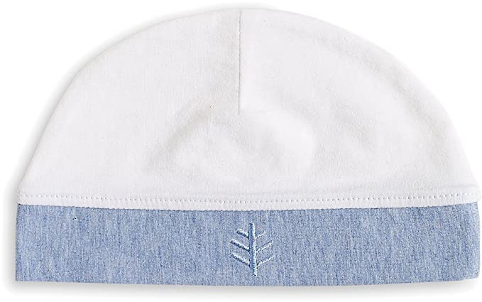 dc392b12ff7403 Amazon.com: Coolibar UPF 50+ Baby Skull Cap - Sun Protective (One Size -  White/Regatta Heather): Clothing