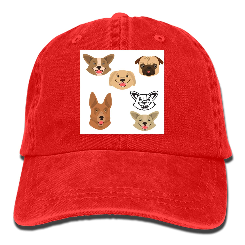 SHUANGRENDE Camping Hair Dogs Unisex Adult Adjustable Trucker Dad Hats