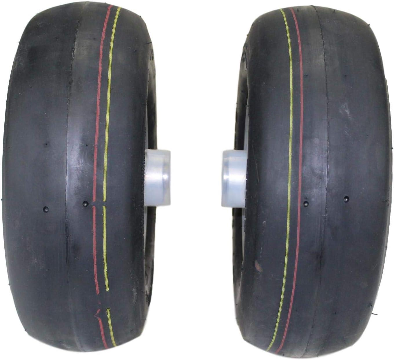 Fits Raptor SD Replaces 605038. Antego Tire /& Wheel Set of Hustler 13x5.00-6 Pneumatic Assemblies 2