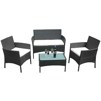Amazonde Hengmei Gartengarnitur Polyrattan Gartenmöbel Set Lounge