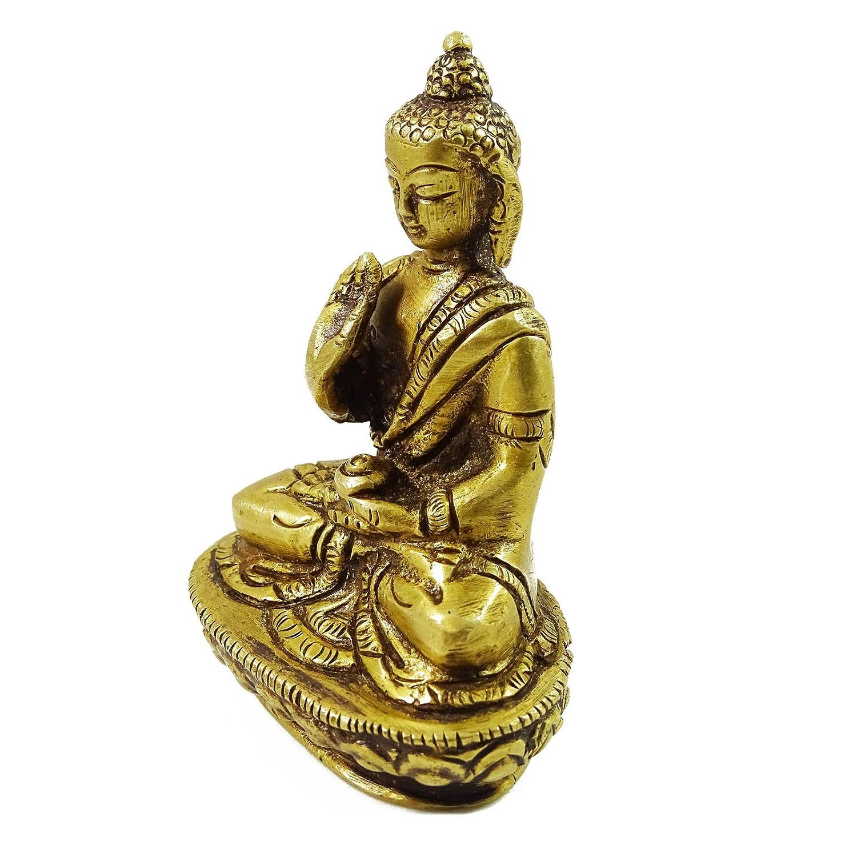 Amazon.com: Decorative Metallic Gold Tone Lord Buddha Statue ...