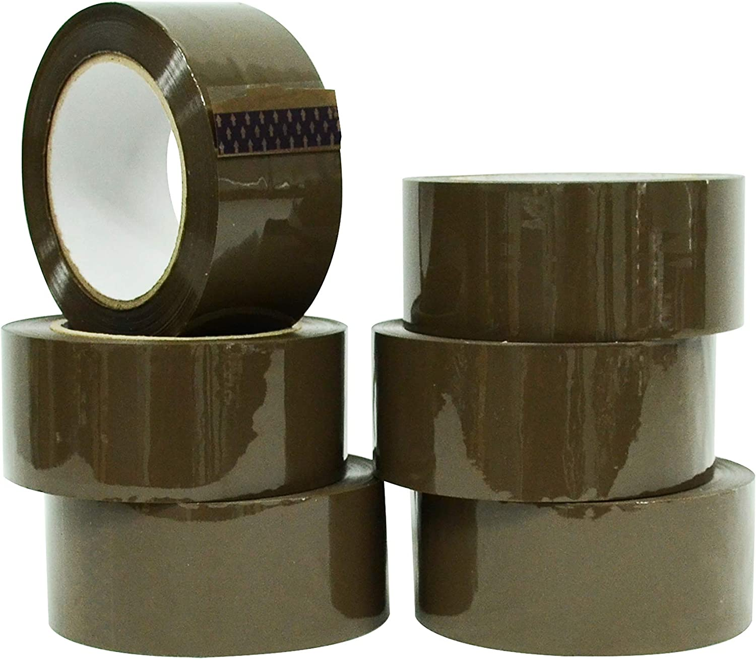 NEW STRONG ADHESIVE 6X ROLLS PACK TAPE 2X FRAGILE 2X CLEAR 2X BROWN PACKAGING
