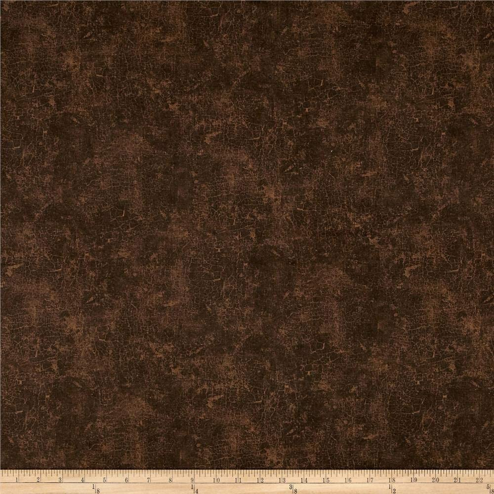 Wilmington Prints Quilt Fabric Wilmington Essentials Crackle Dark Brown Quilt Fabric by The yd
