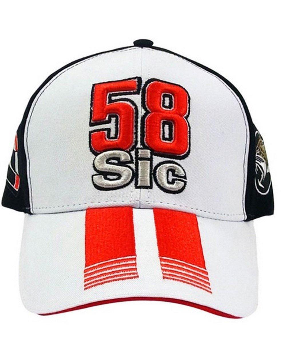 MARCO SIMONCELLI MOTOGP CAP HAT OFFICIAL MERCHANDISE VR46 58 SIC BLACK WHITE GP All Manufacturers